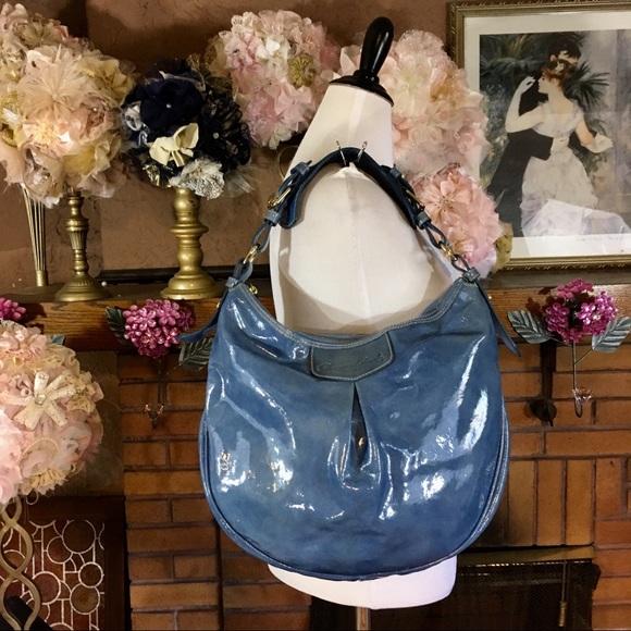 e2774c3179 Dooney   Bourke Handbags - DOONEY   BOURKE PATENT LEATHER HOBO BAG LUISA